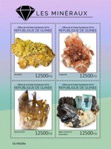GUINEA - 2019 - Minerals - Perf 4v Sheet - M N H