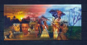 BOTSWANA 1999 Miss Universe Mini Sheet MNH Ka604s