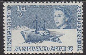 British Antarctica, Sc 1, MNH, 1963, M. V. Kista Dan