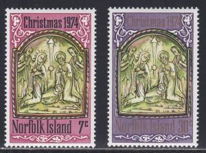 Norfolk Island # 179-180. Christmas, NH, 1/2 Cat.