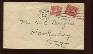 R229 REVENUE STAMP  ILLEGAL USE ON 1929 COVER (CV 97)