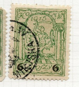 Poland Warsaw 1915 Early Issue Fine Used 6gr. Surcharged Postmark NW-14430