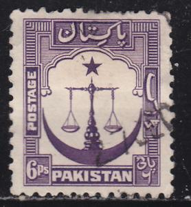 Pakistan 25 Scales of Justice 1948
