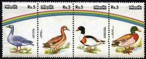 1992 Pakistan 863-866strip Water birds 6,00 €