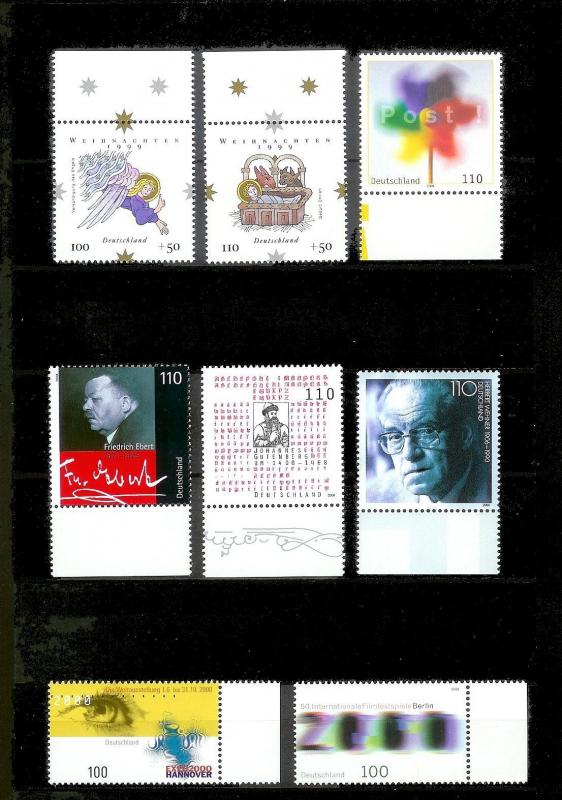 GERMANY 107 Different Mint Never Hinged Stamps Face Value=108DM+ (US$55+)