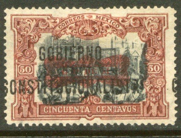 MEXICO 536, 50¢ Corbata & Gobierno $ overprints, UNUSED, H OG. VF.