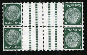 Tete-Beche (Kehrdruck) 1933 Watermark Honey Comb (Waben) Mi. KZ 18 (x2), MNH