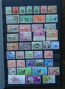 Trinidad & Tobago War Tax 1938 values to 24c 1953 12c 1960 values to 60c MM