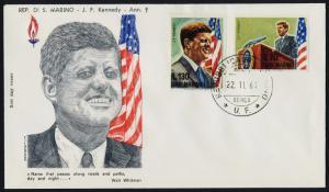 San Marino 607-8 on FDC - John F. Kennedy