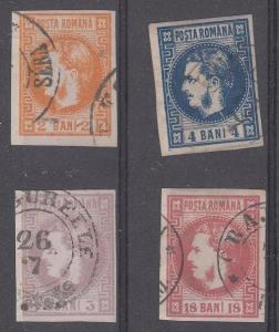 Romania Scott 33-36 Used (Catalog Value $157.50)