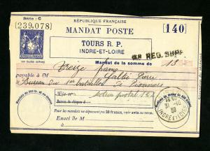 France SA R13 Early WWII usage bkstp Nov 5, 1939 mandate