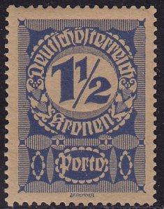 Austria - 1921 - Scott #J85a - mint - Numeral - thick grayish paper