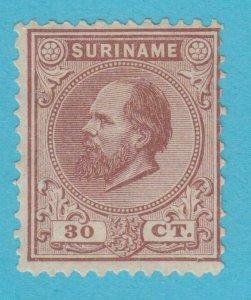Suriname 12 N° Gomme comme Publié N° Défauts Très Fine