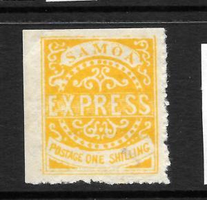 SAMOA  1877-80 1/-  ORANGE YELLOW   EXPRESS   MLH   SG 7c