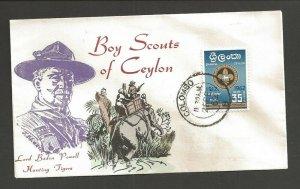 1962 Ceylon Boy Scouts Jamboree FDC- Overseas Mailer
