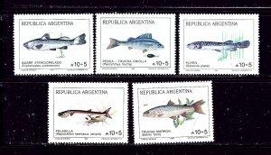 Argentina B137-41 MH 1989 Fish