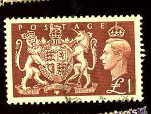 Great Britain #289 Used VF Cat $18