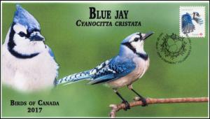 CA17-039, 2017, Birds of Canada, Blue Jay, Day of Issue, FDC