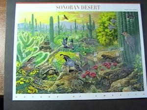 U.S.# 3293-MINT/NEVER HINGED----- PANE OF 10-----SONORAN DESERT-----1999