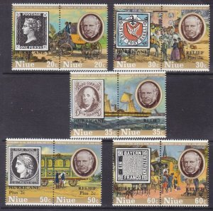 Niue 241-45 MNH 1979 Sir Rowland Hill Stamp on Stamp Set of 5 Very Fine