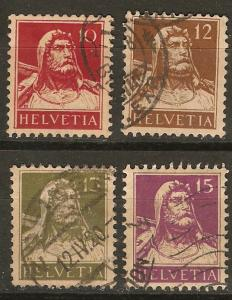 Switzerland 4 Different Buff Paper Used VF 1914-5 SCV $6.40