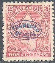 Nicaragua O119 Unused/Hinged - Hinge Remnant