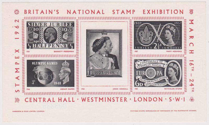 Great Britain - 1962 National Stamp Exhibition Souv. Sheet