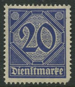 GERMANY. -Scott O5 - Officials -1920 - MLH - Single 20pf Stamp