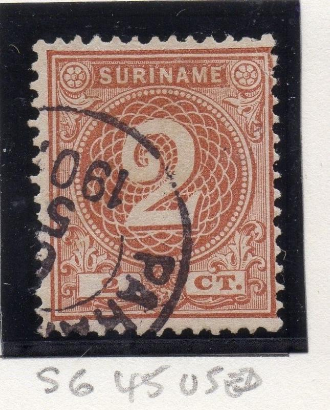 Suriname 1890 William Early Issue Fine Used 2c. 163469