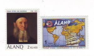 Aland Sc 62-3 1992 Von Knorring Congress stamp set mint NH