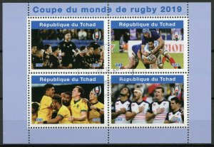 Chad 2019 CTO Rugby World Cup New Zealand Australia 4v M/S I Sports Stamps