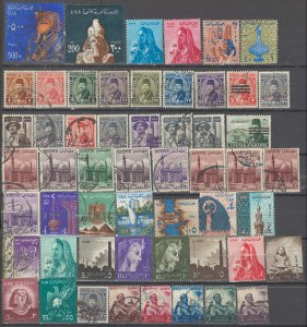 COLLECTION LOT # 3642 EGYPT 53 STAMPS 1944+ CLEARANCE