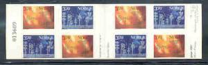 Norway Sc 1179b 1997 Christmas stamp booklet mint NH