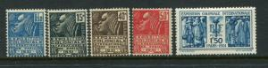 France #258-62 Mint