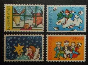 Netherlands B596-99. 1983 Christmas, NH