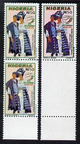 Nigeria 2008 UPU Congress N50 (Ceremonial Costumes) proof...
