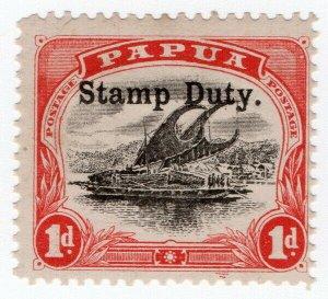 (I.B) Papua New Guinea Revenue : Stamp Duty 1d (1907)