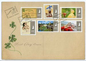 Finland Stamps 2021 FDC Postcard Postcards 150 Years Collecting 6v S/A Set