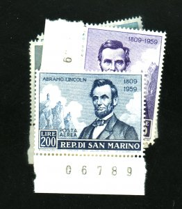 SAN MARINO #433-6 C108 MINT VF OG NH Cat $7