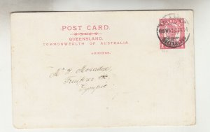 QUEENSLAND, Postal Card 1913 1d. Red, TPO 4 SW (Lyra) to Gympie.
