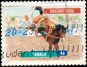 Kingsway Skoal, Bucking Horse, Canada stamp SC#1796 used