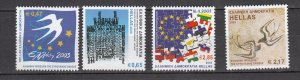 J26435  jlstamps 2003 greece set mnh #2057-60 designs