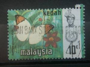 KEDAH, 1971, used 10c, Butterfly Scott 117