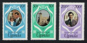 Uganda Charles and Diana Royal Wedding 3v reissue perf 12 SG#345-347