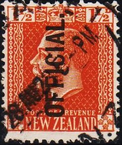 New Zealand. 1915 1 1/2d S.G.O91 Fine Used