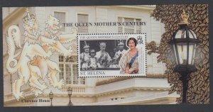 St Helena 744 Queen Mother Souvenir Sheet MNH VF