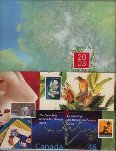 Annual Souvenir Collection Postage Stamps of Canada 2003 - USC #AC46 Cat. $100.