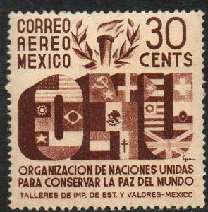 MEXICO C158, 30c Honoring the United Nations. MINT, NH. F-VF.