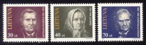 Lithuania Sc# 514-6 MNH Famous Lithuanians