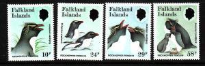 D2-Falkland Islands-Scott#450-3-unused NH set-Birds-Rockhopp